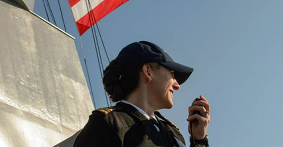 Being a commanding officer in the Navy takes guts. So does being her husband.