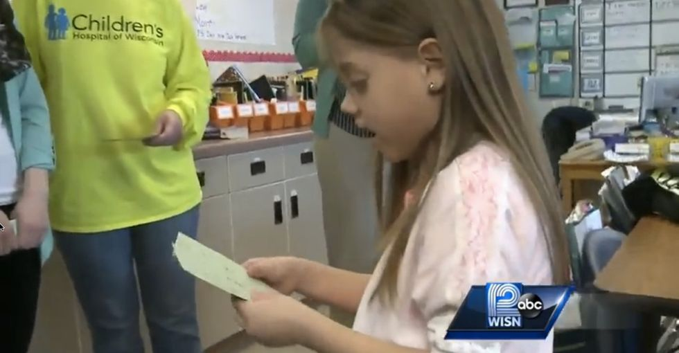This first-grader needed a special kind of help. So her teacher gave her the gift of life.