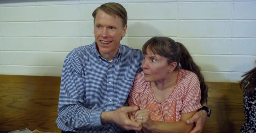 After his wife's diagnosis, he became her caretaker. One woman's gift is helping him continue.