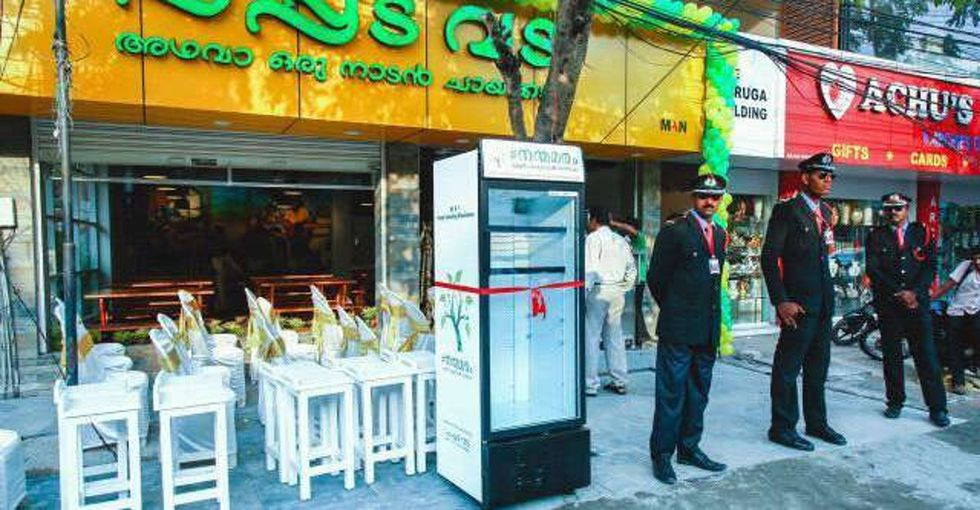 A woman saw hungry people digging in her restaurant's trash, so she put a fridge outside.
