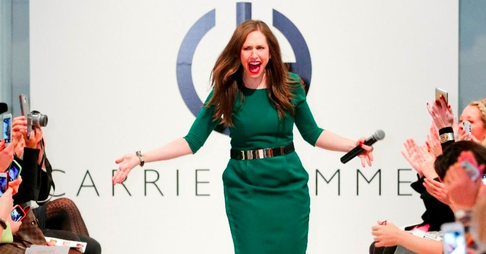 This designer uses role models instead of runway models in her fashion shows. The result is magical.