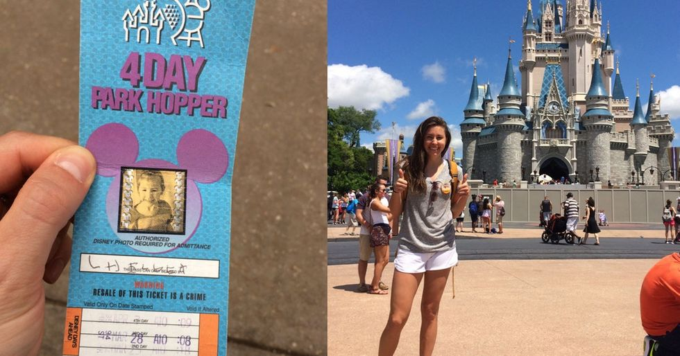 With one day left on a 22-year-old Disney World ticket, this woman made the most of it.