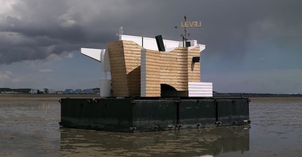 See 8 photos of the floating house that could save lives someday.