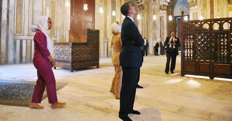 President Obama visited a mosque today. In a perfect world, no one would care.
