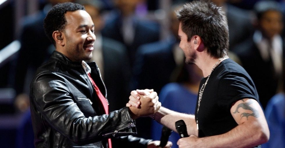 See John Legend and Juanes perform a powerful song for detainees.
