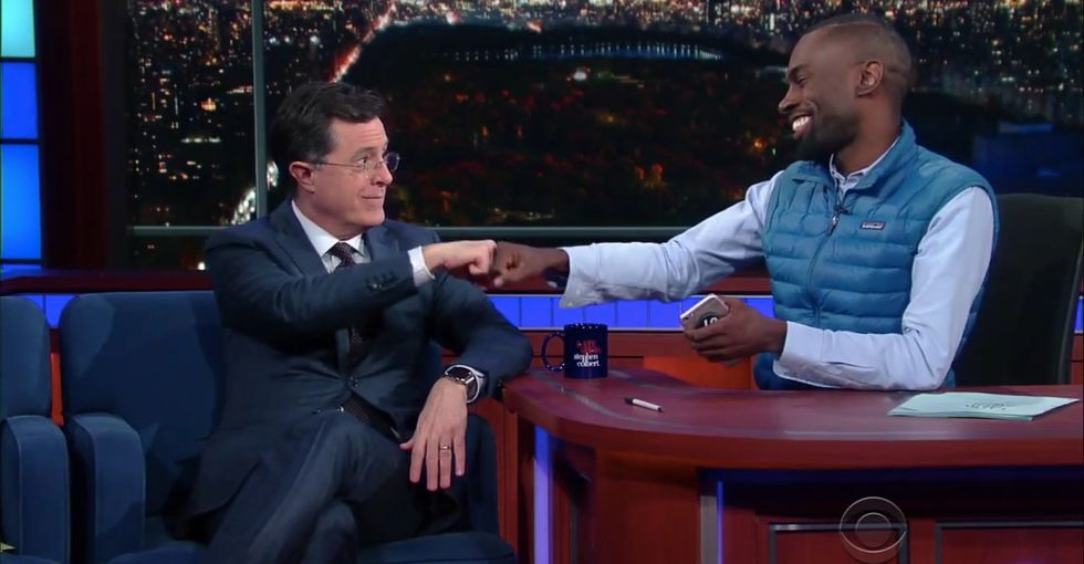 Watch DeRay Mckesson help Stephen Colbert understand white privilege.