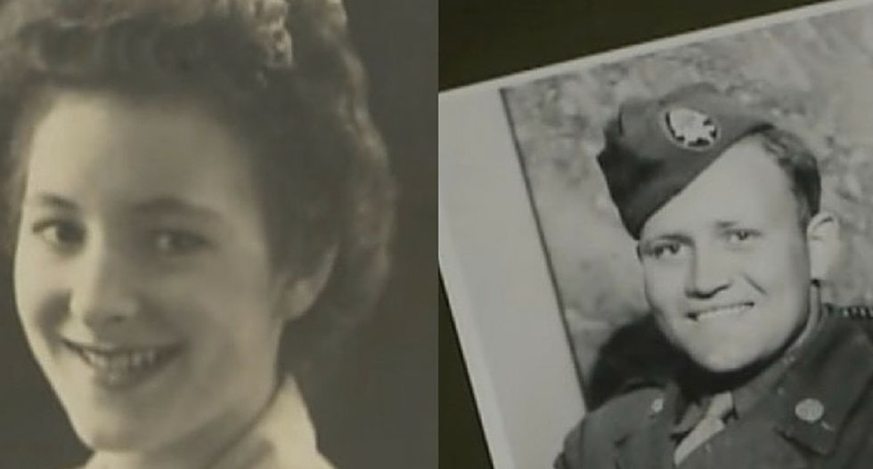 A beautiful WWII love story gets a happy ending after 70 years.