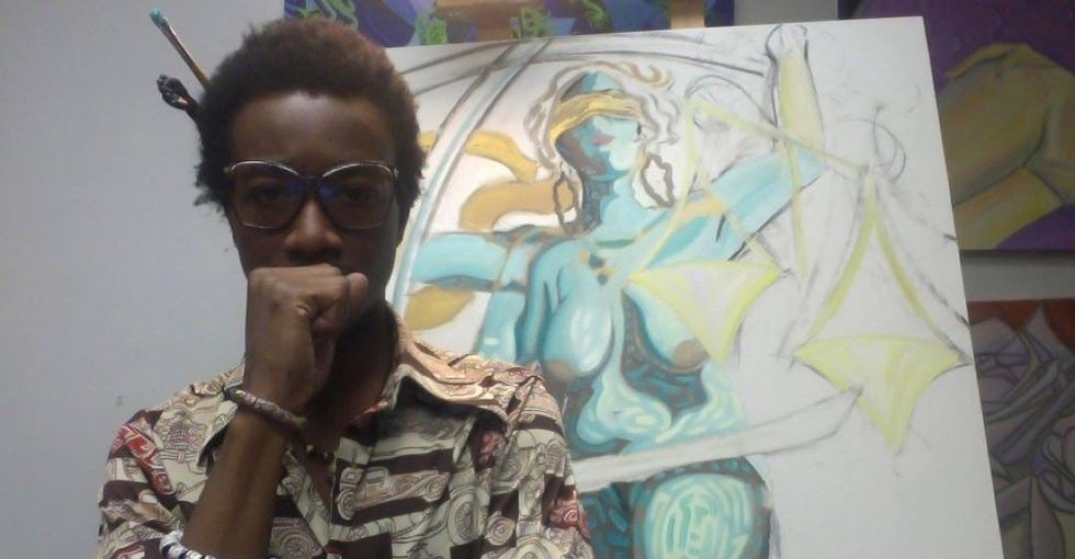 Kwadwo was painting a tribute to victims of police brutality. Then he almost became one.