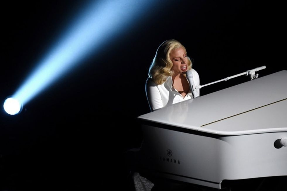 Lady Gaga just gave one of the most emotionally powerful performances in Oscar history.