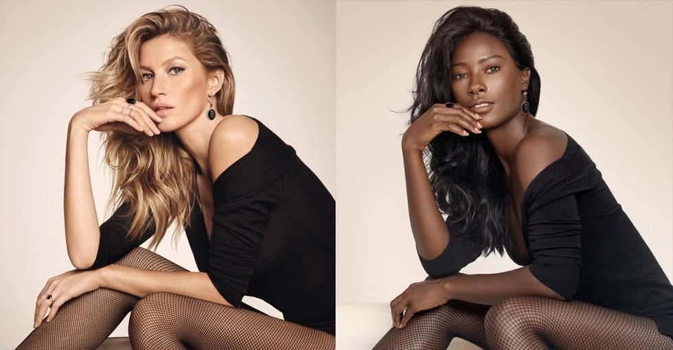 She re-created famous fashion ads to make a great point about diversity.