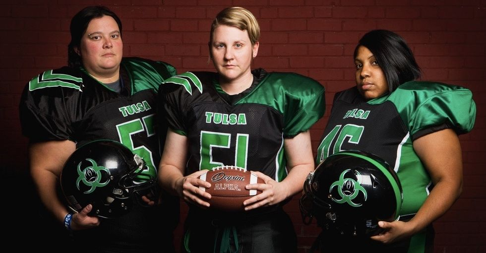These 7 women prove tackle football isn't just for men.