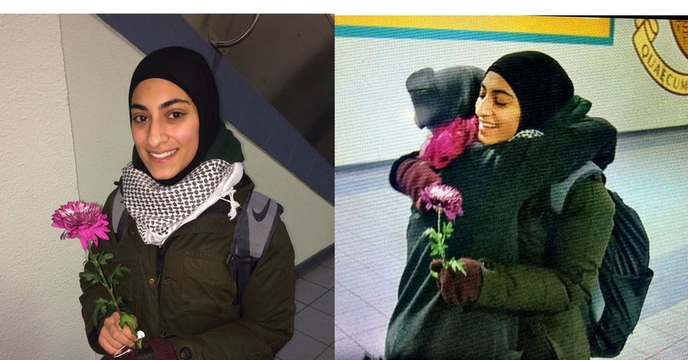 A man threatened 2 Muslim women. These Canadians responded with flowers.
