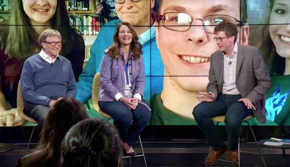 What did Bill and Melinda Gates tell a room full of teenagers from around the world?