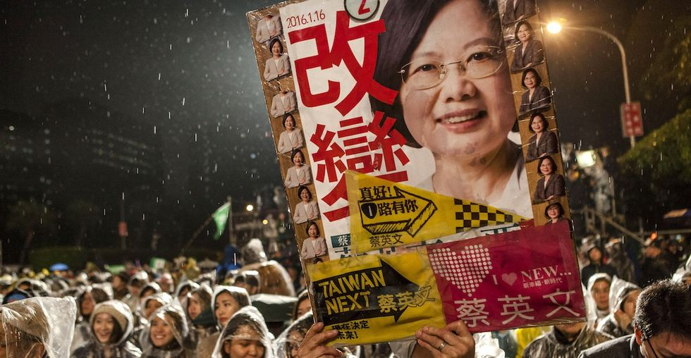 Taiwan just elected its first female president, and she's a total badass.