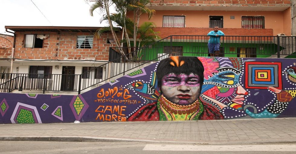 These 10 beautiful murals show how a once violent town found redemption through art.