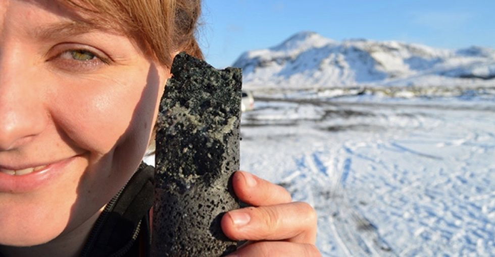 How scientists in Iceland turned harmful greenhouse gases into rocks.