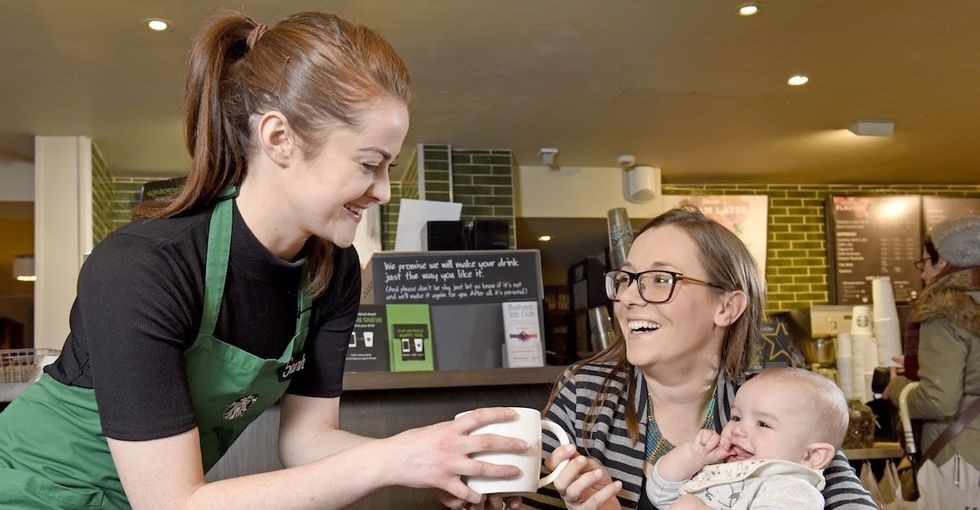 Starbucks U.K. trained its staff to be more parent-friendly. Here's what that means.
