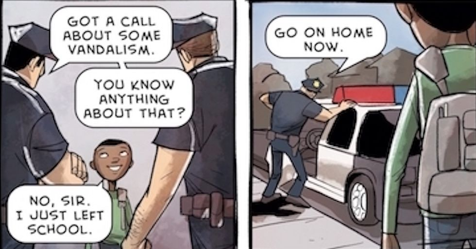 The harsh reality of being a black child in America, told in a 10-part comic.