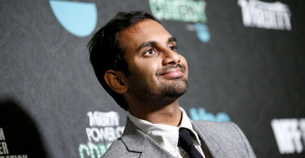Aziz Ansari thanked Netflix for getting 'what diversity really is' in a candid speech.
