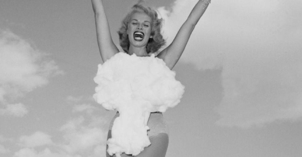 9 strange-but-true photos that capture Las Vegas' brief love affair with nuclear bombs.