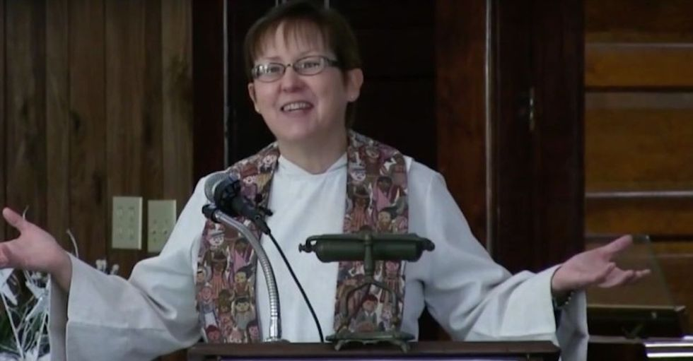 Her congregation expected a normal sermon on Sunday. But they got something even better.