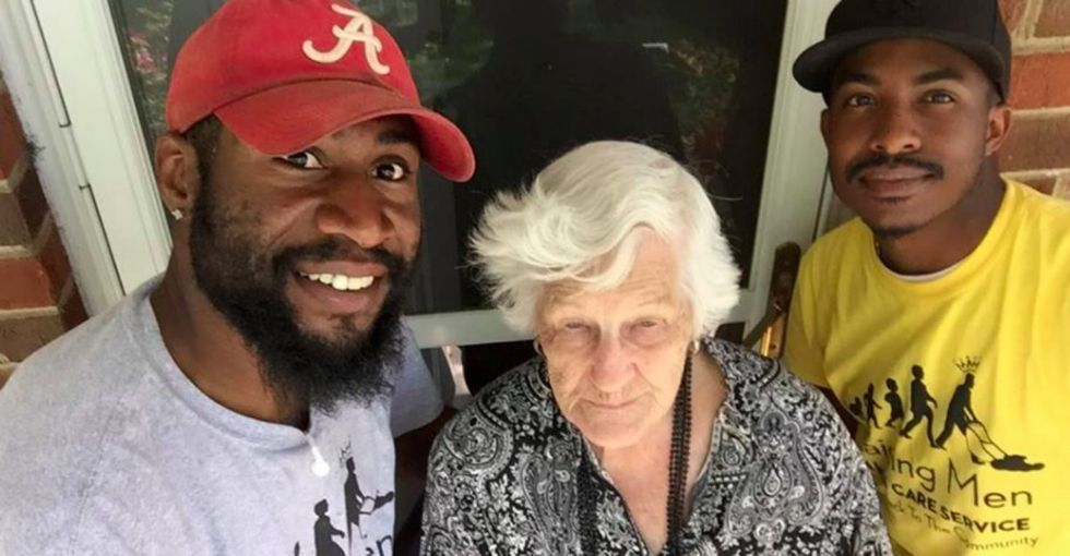 Why a photo of this 93-year-old and her lawn mowers is going viral.
