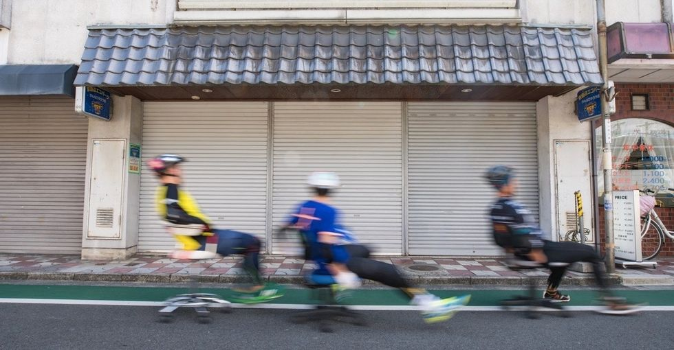 See hilarious race photos from Japan's Office Chair Grand Prix.