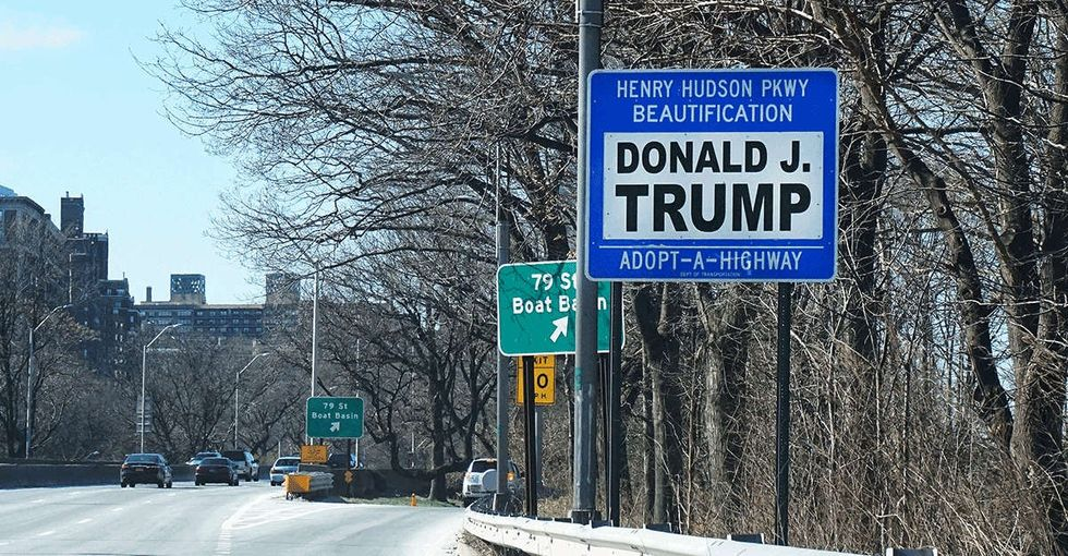 Donald Trump has an Adopt-a-Highway. I walked down it. Here's what I found.
