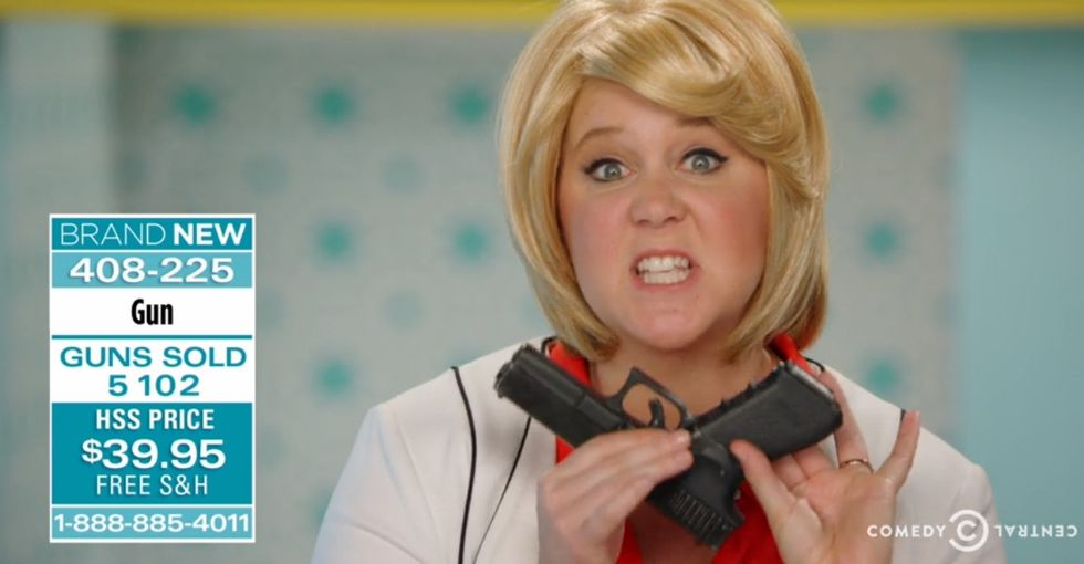 Amy Schumer's sketch on guns is hilarious, terrifying, and way too real.