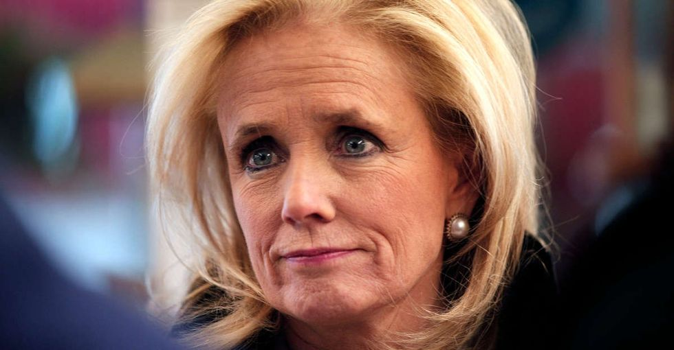 Rep. Debbie Dingell's speech about the time her dad held a gun on her gave me chills.