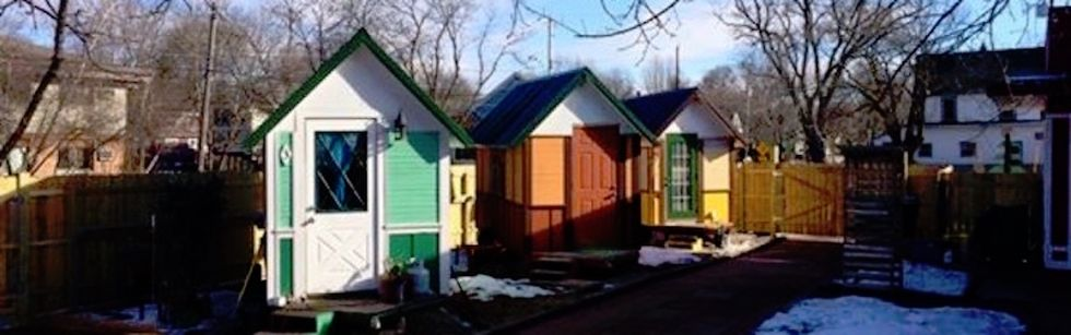 Big problem, tiny solution — but these tiny homes for the homeless just might work.