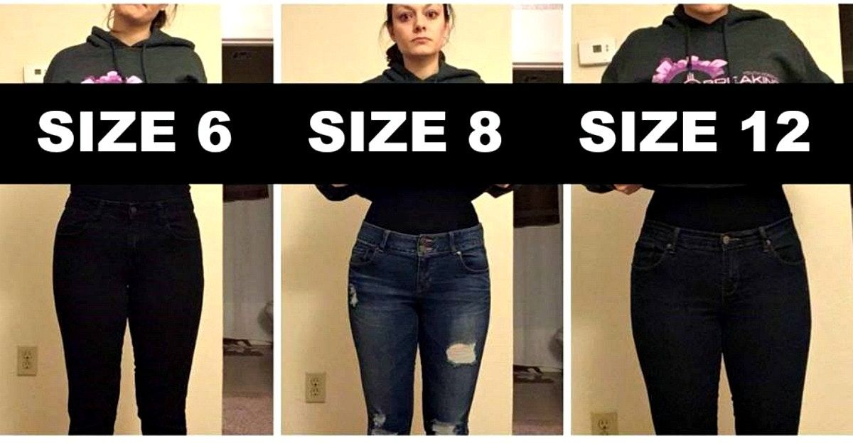 50 years ago, today's size 00 was an 8. This viral post