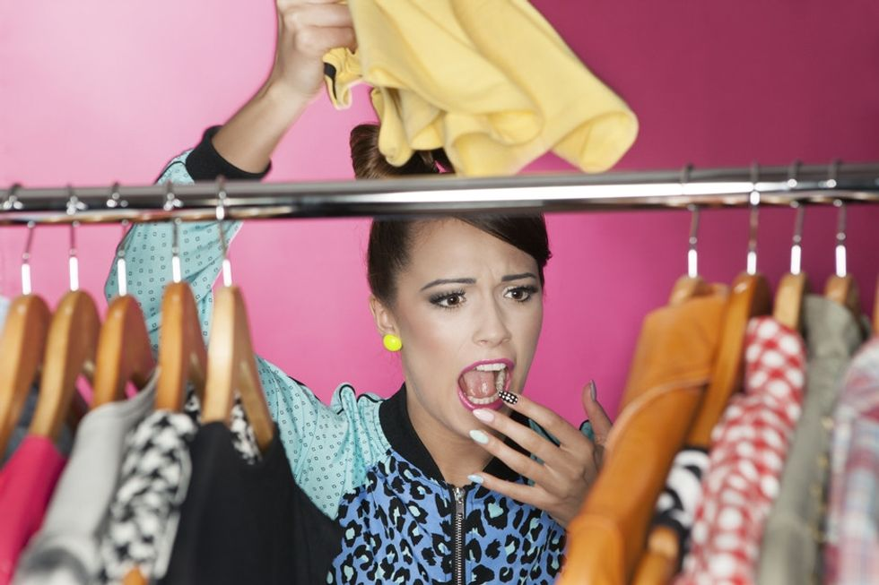 If the urge to clean out your closet strikes, don't toss your old clothes.