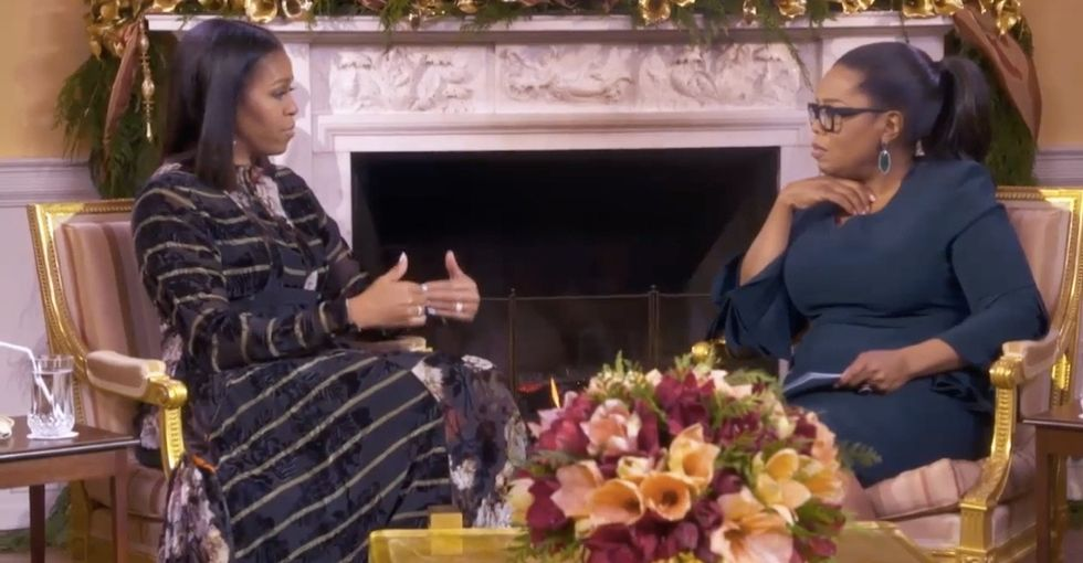 Michelle Obama sat down with Oprah for an important chat about criticism.