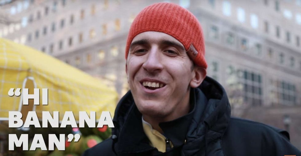 He's a Syrian immigrant. He sells bananas. And you'll love him.