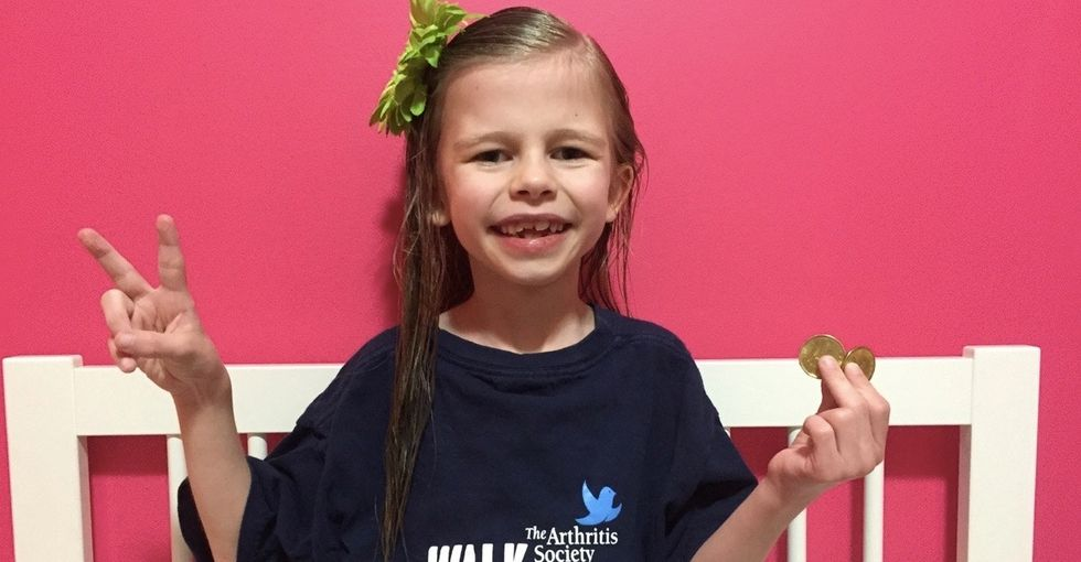 The heartwarming story of a little girl on a big mission to find a cure for arthritis.