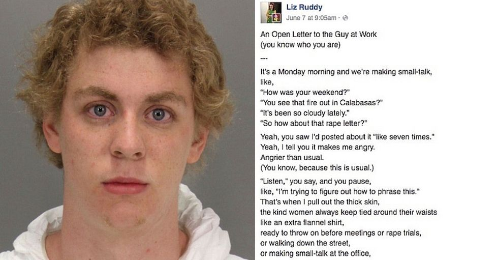 One woman's scathing letter to her coworker about Brock Turner and consent.