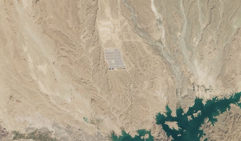 There's a solar farm in Morocco that's so big you can see it from space.
