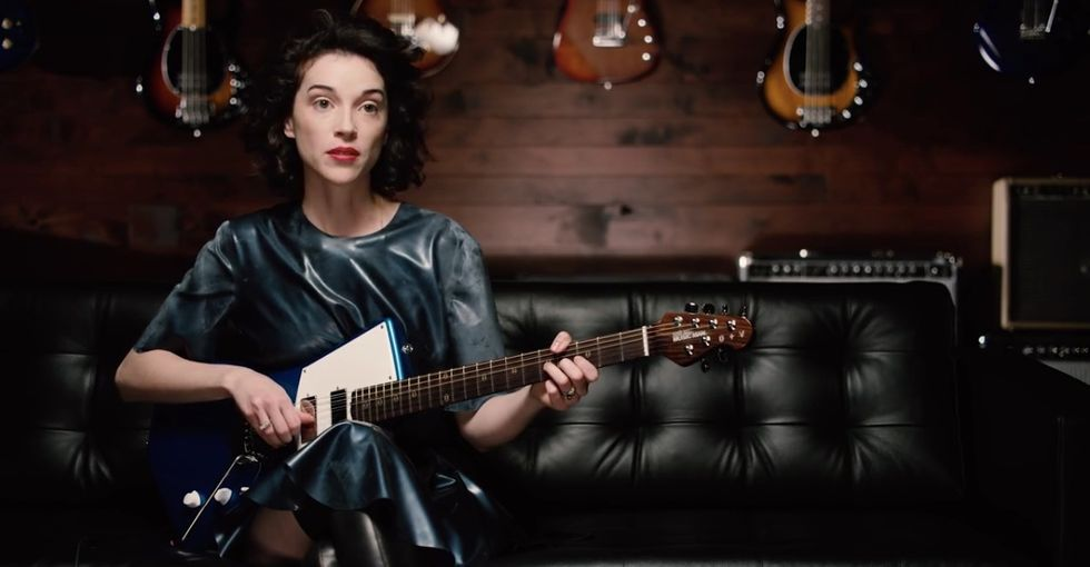 This is the guitar women have been waiting for. Thank you, St. Vincent.
