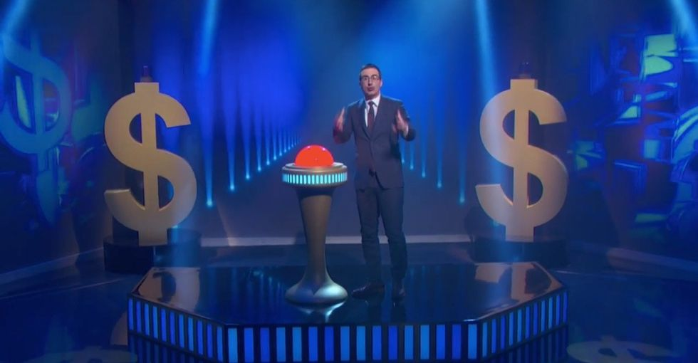 Watch John Oliver forgive nearly $15 million in debt with the push of a button.