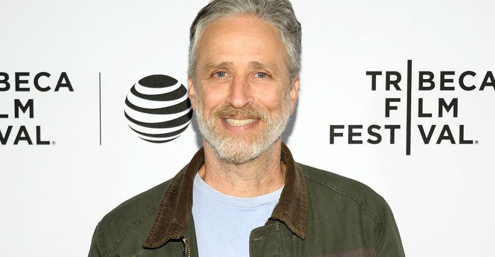 Jon Stewart adopted a horse that was shot over 100 times with paintballs.