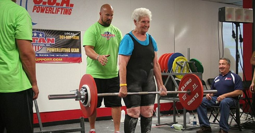 3 years ago, this 78-year-old could barely climb stairs. Now she deadlifts 225 pounds.
