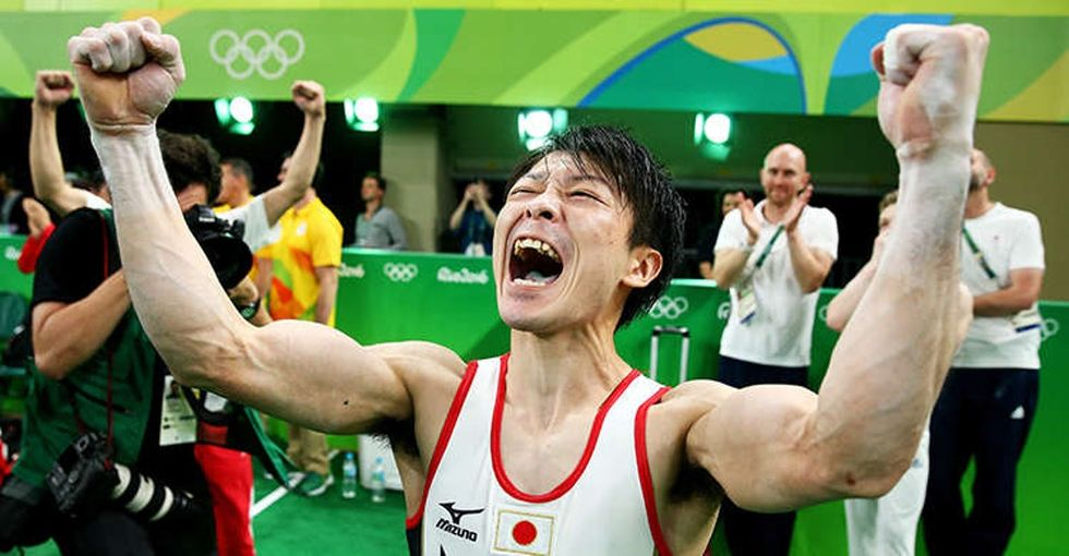 19 incredible photos of Olympic athletes letting their feelings out after winning gold.