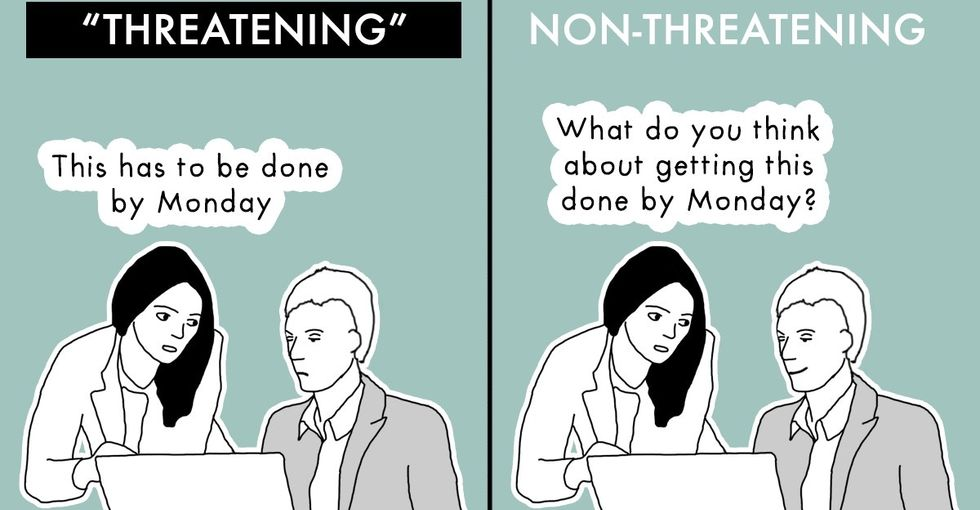 A series of comics takes a look at the struggles of being a woman in the workplace.