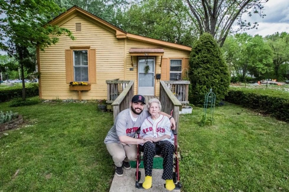 How one man is fighting to keep a 104-year-old woman safe at home.