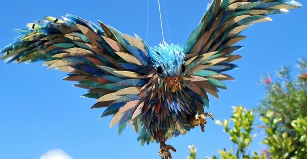 8 wacky and wonderful sculptures made from old CDs.