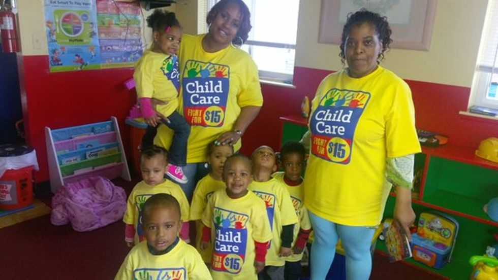 The inspirational journey of one child care worker and her Fight for $15.