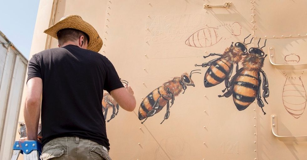 These lifelike murals have communities buzzing about honeybees.