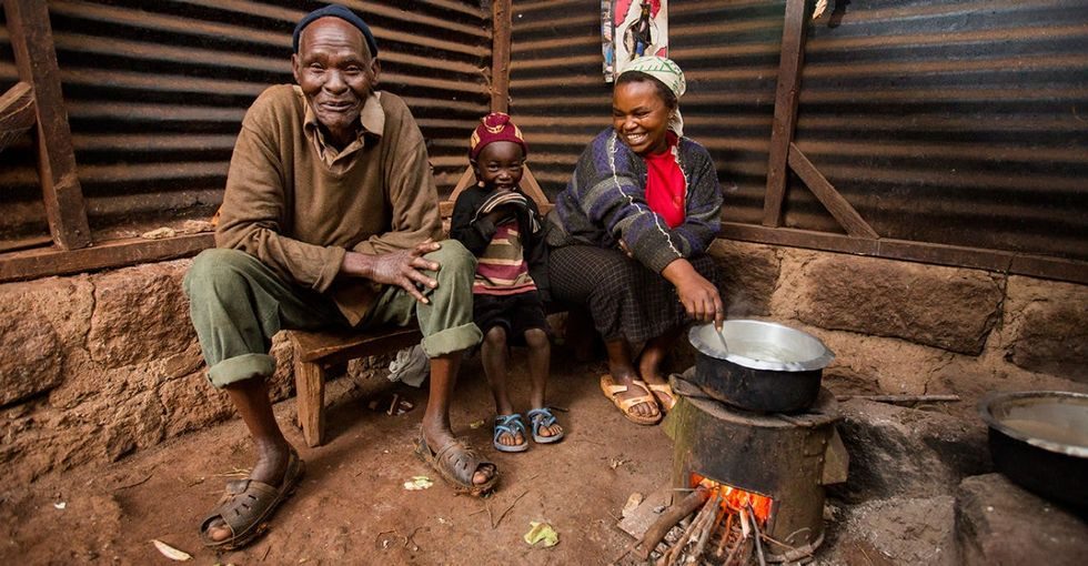 A before-and-after snapshot shows the incredible impact of clean cookstoves.