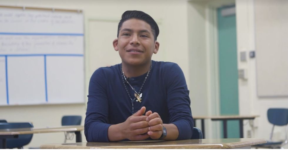 A young immigrant's inspiring story of survival moves the internet to take action.